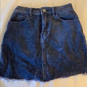 blue corduroy brandy melville skirt